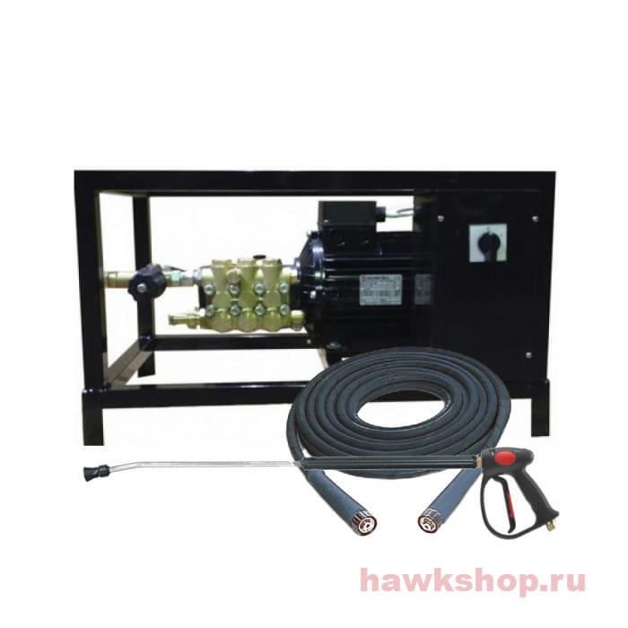 Аппарат высокого давления Hawk FX 2515 TS  + шланг высокого давления 10м + пистолет в сборе
