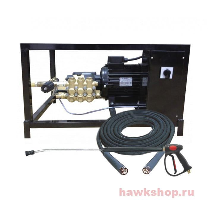 Аппарат высокого давления Hawk FX 2515 BP  + шланг высокого давления 15м + пистолет в сборе